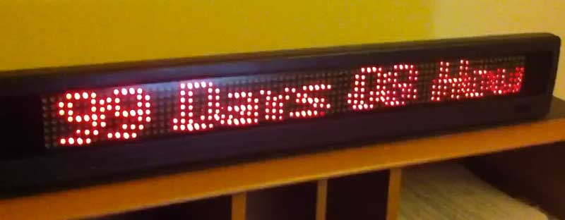 LED Scroller Counts Down to Maker Faire