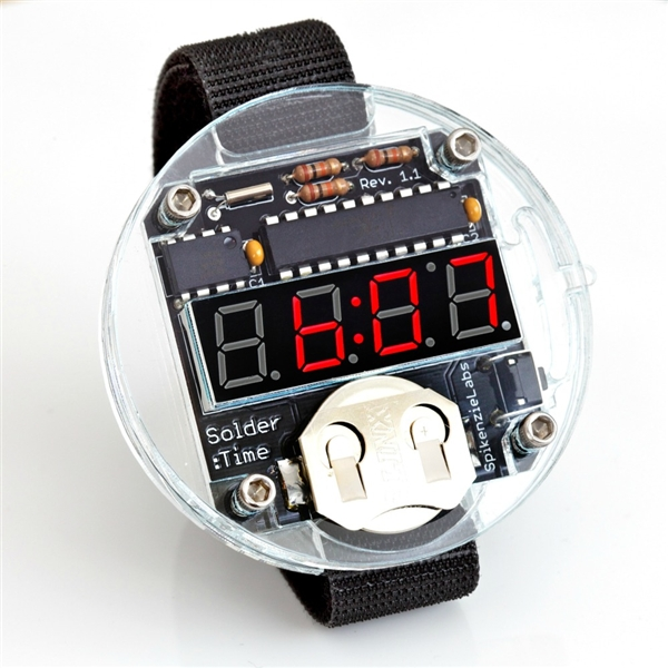 In the Maker Shed: Solder Time Watch Kit