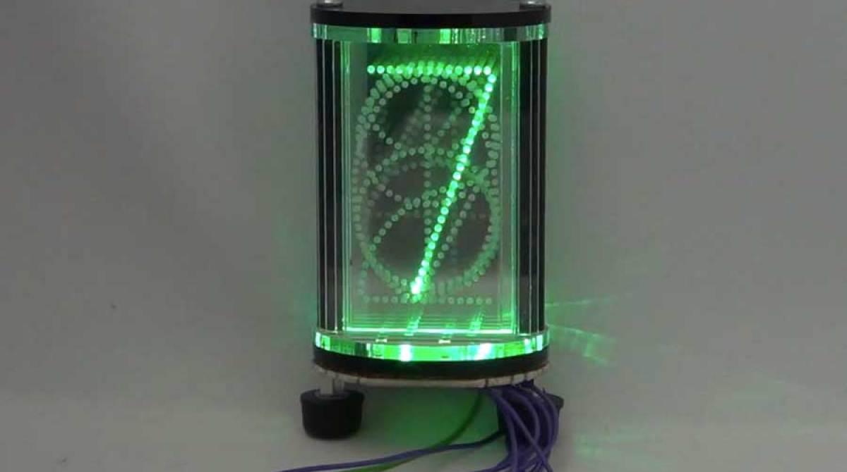 Edge Lit LED Nixie Tube Style Display