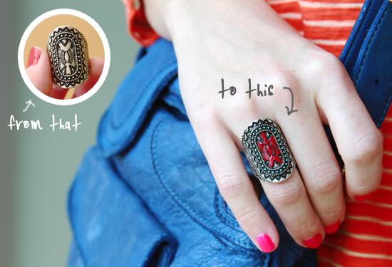 How-To: Nail Polish Ring Refashion