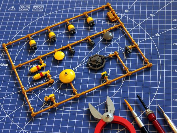 Lego Model Parts on Sprue Made of Lego