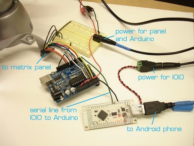 Displaying Phone Video on an RGB LED Matrix