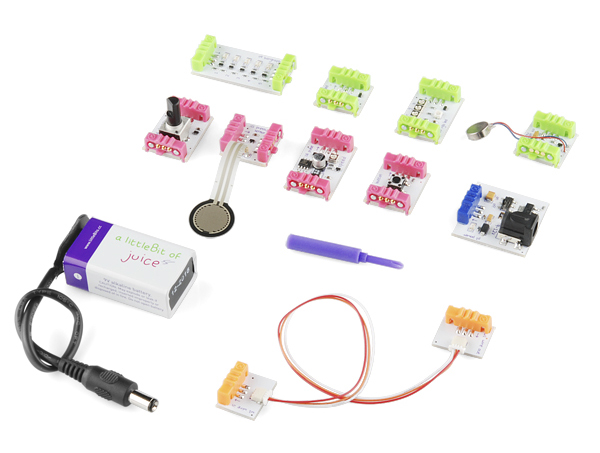In the Maker Shed: littleBits Starter Kit V0.2