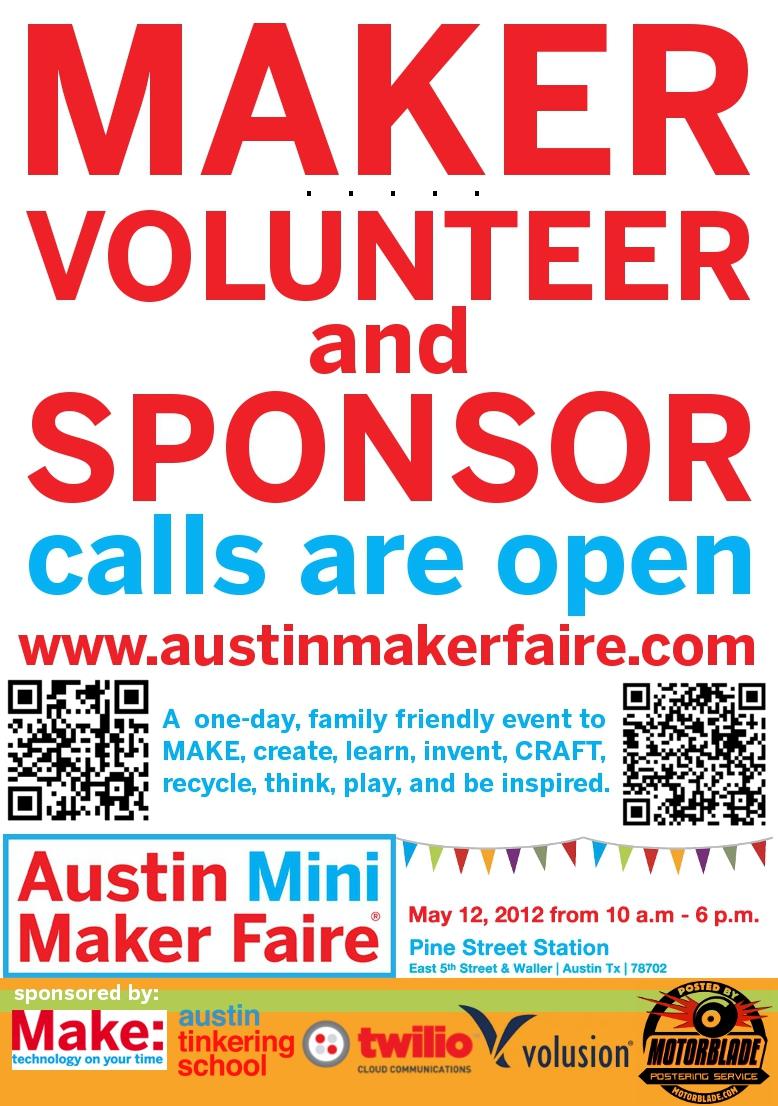 Austin Mini Maker Faire Call For Makers