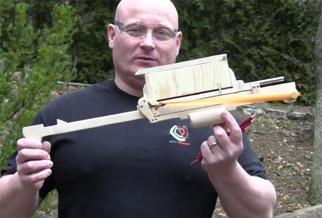 Pump Action Slingshot Crossbow