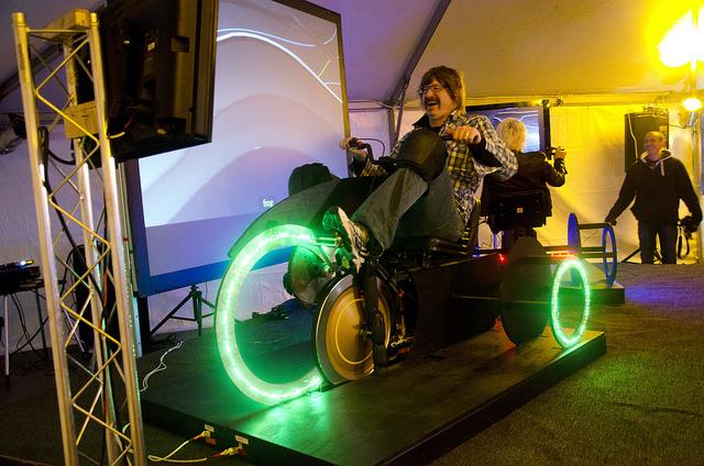 Alt.SXSW: Tron Light Cycles Realized