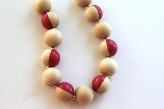 How-To: Two-Color Wooden Bead Necklace
