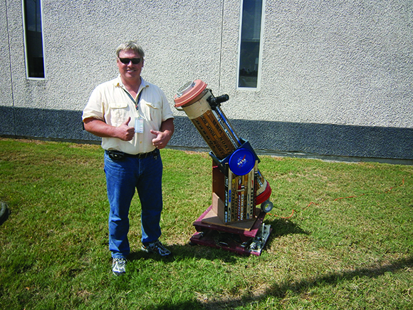 Telescope Made Out of Old Hockey Sticks