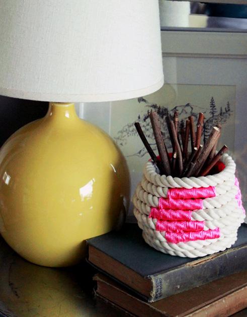 Colorblock Rope Basket