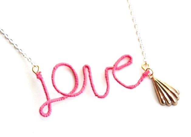 How-To: Thread-Wrapped Wire Word Necklace