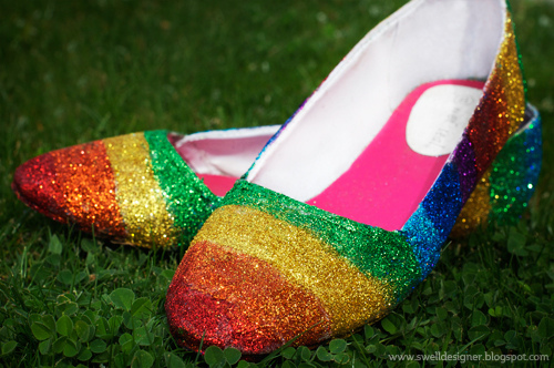 How-To: Rainbow Glitter Shoes