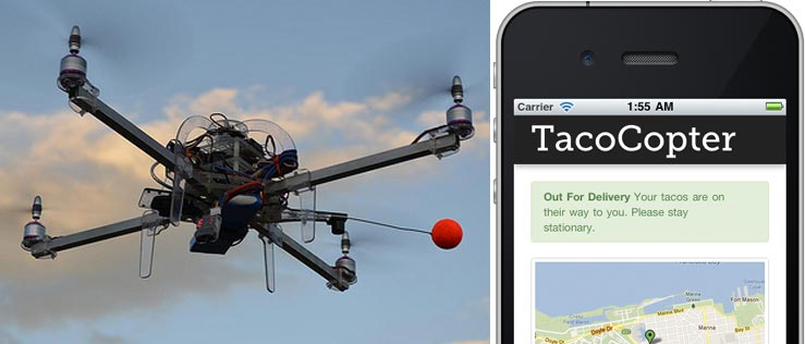 """""""Tacocopter"""" Scheme Spotlights Delivery-by-Drone Prospects"""