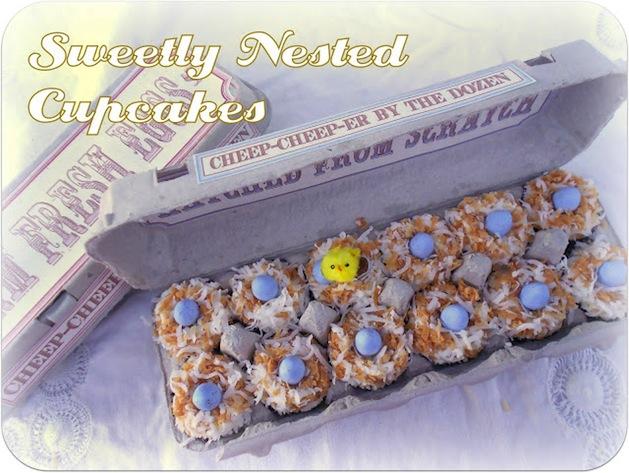 Recipe: Mini Bird Nest Cupcakes