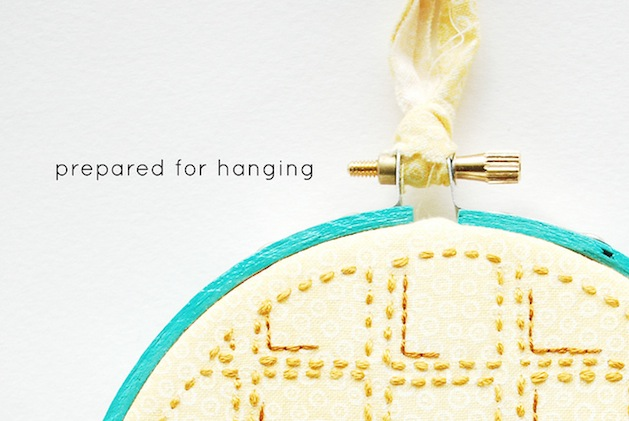 How-To: Prepare an Embroidery Hoop for Hanging