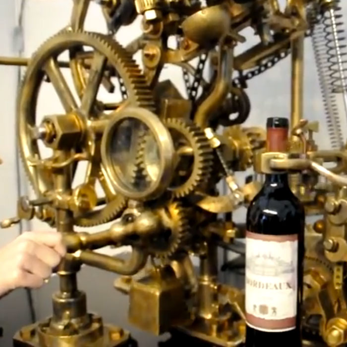 Incredible Wine Uncorking Contraption