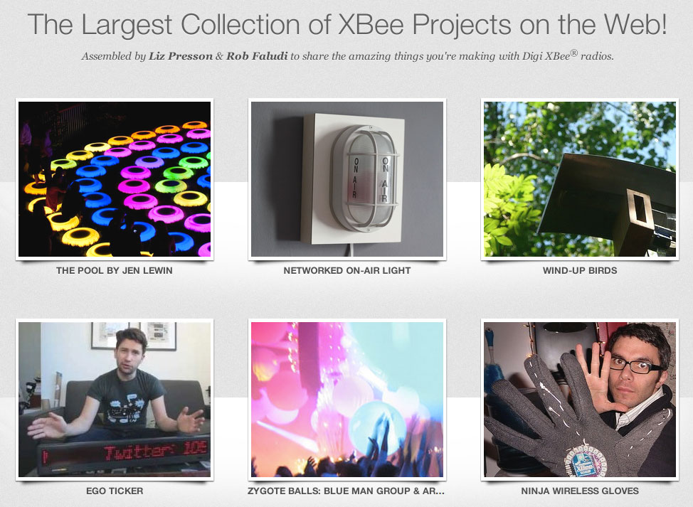 The Largest Collection of XBee Projects on the Web