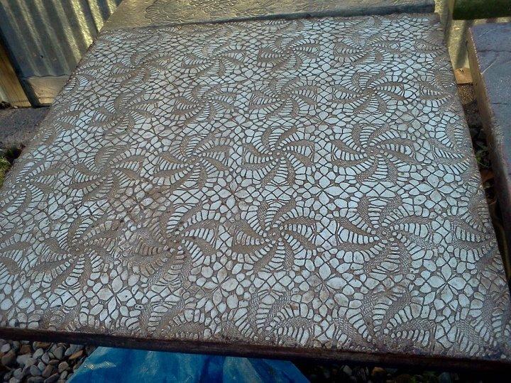 Patterned Concrete Tables