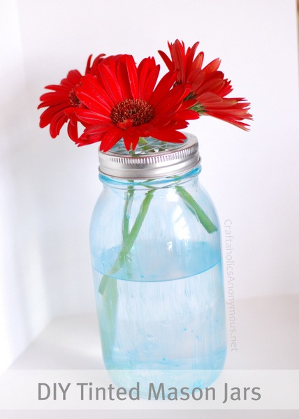 How-To: Add Permanent Color Tint to Mason Jars | Make: