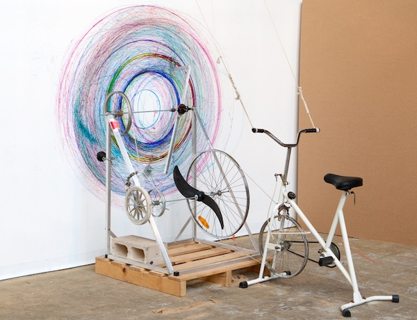 Drawing Machine from Stationary Bicycle