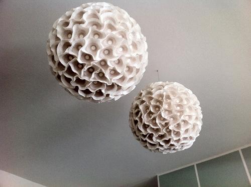 Sculpture Paper Orb Lights