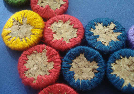 How-To: Embroidered Cork Jewelry