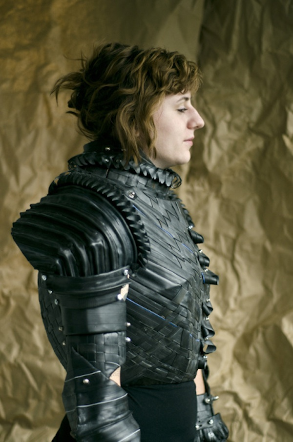 Joan of Arc Armor Made from Cardboard and Bicycle Tubes