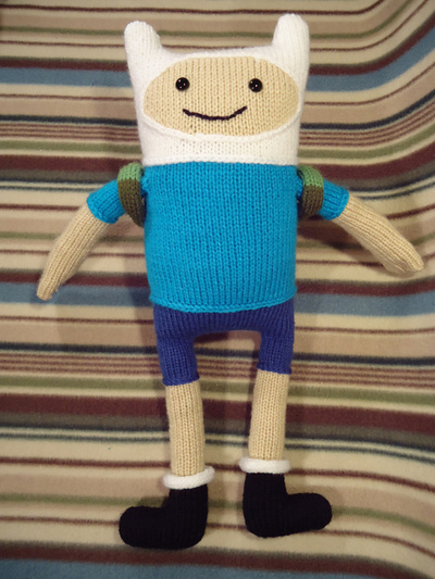 Knitted Finn the Human Doll