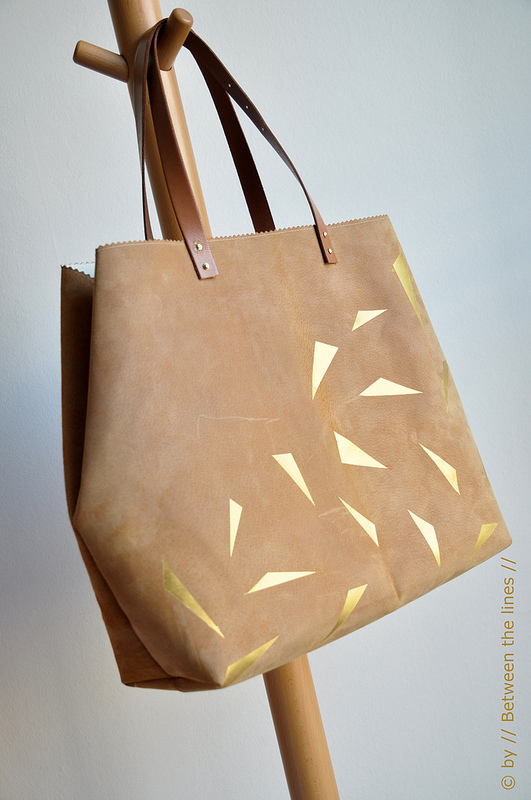 How-To: Leather and Gold Bag