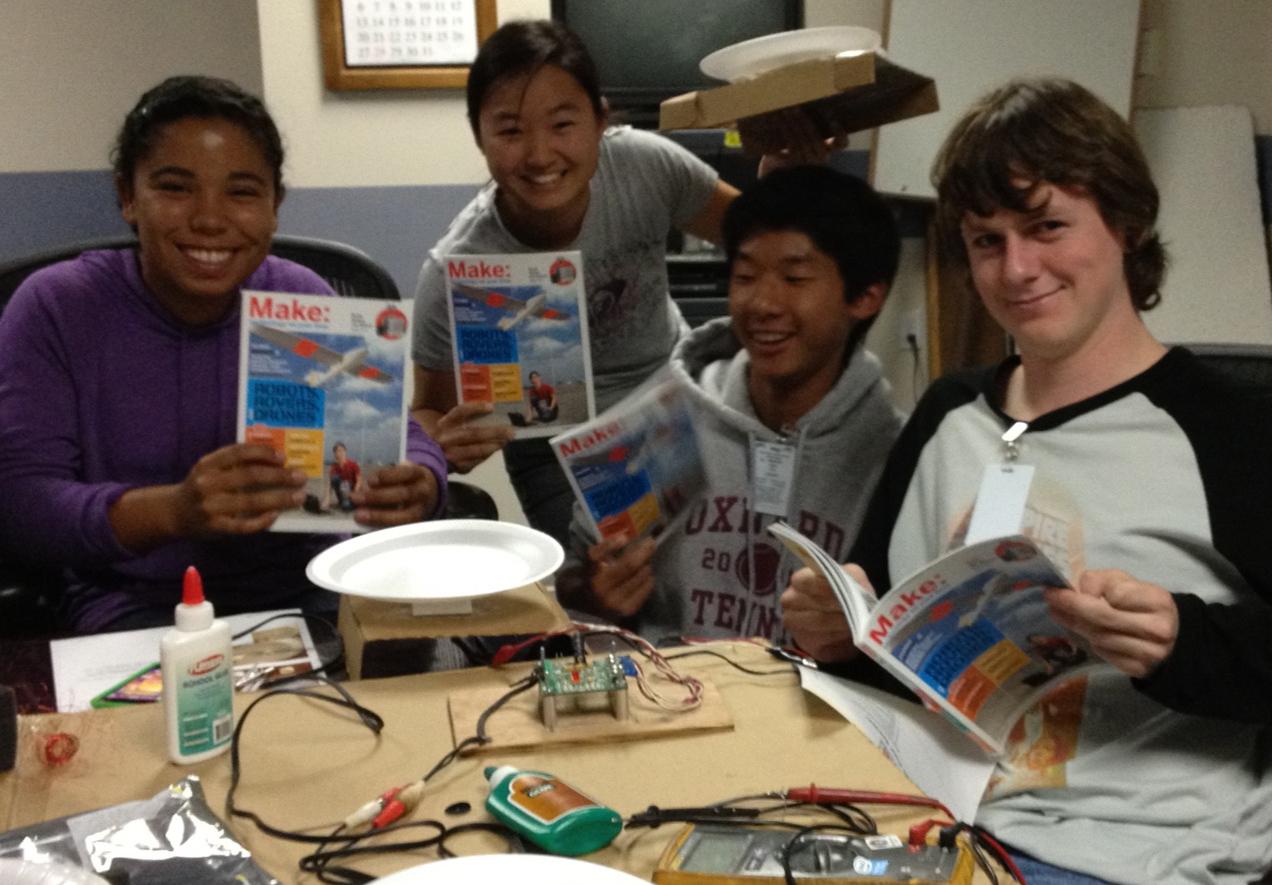 High Schoolers Build the Styrofoam Plate Speaker