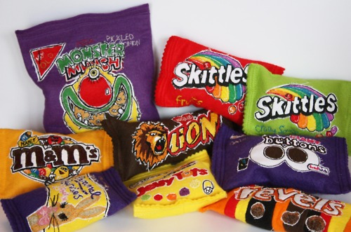 More of Holly Levell's Snack Bag Soft Sculptures
