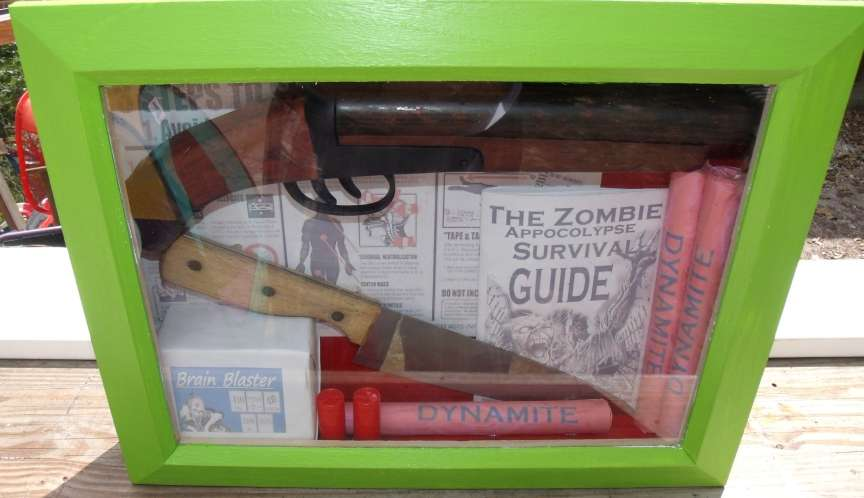 How-To: Zombie Apocalypse Survival Kit Shadowbox