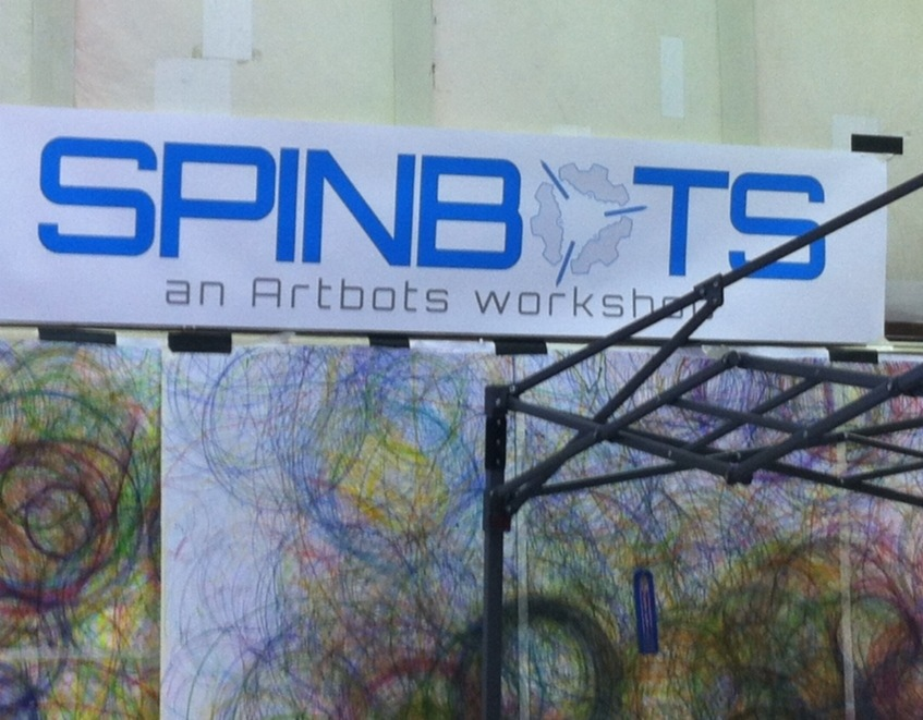 Spin art robots in minutes!