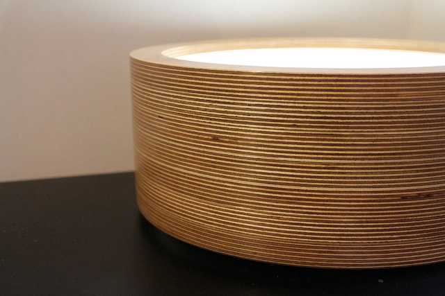 Turn Table Lamp Brightens and Dims as you Rotate it