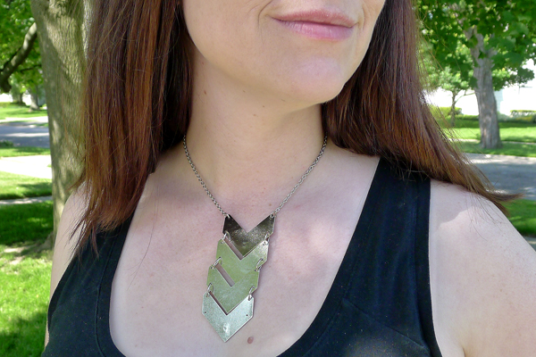 How-To: Spare Parts Chevron Necklace