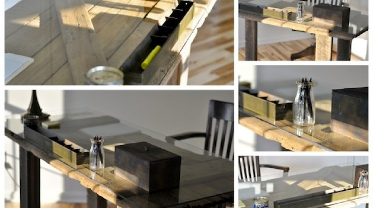 How To Recycled Barn Door Desk Make
