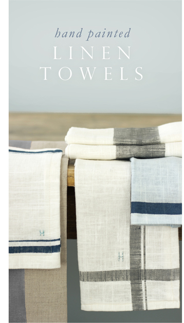 Hand-Painted Linen Towels