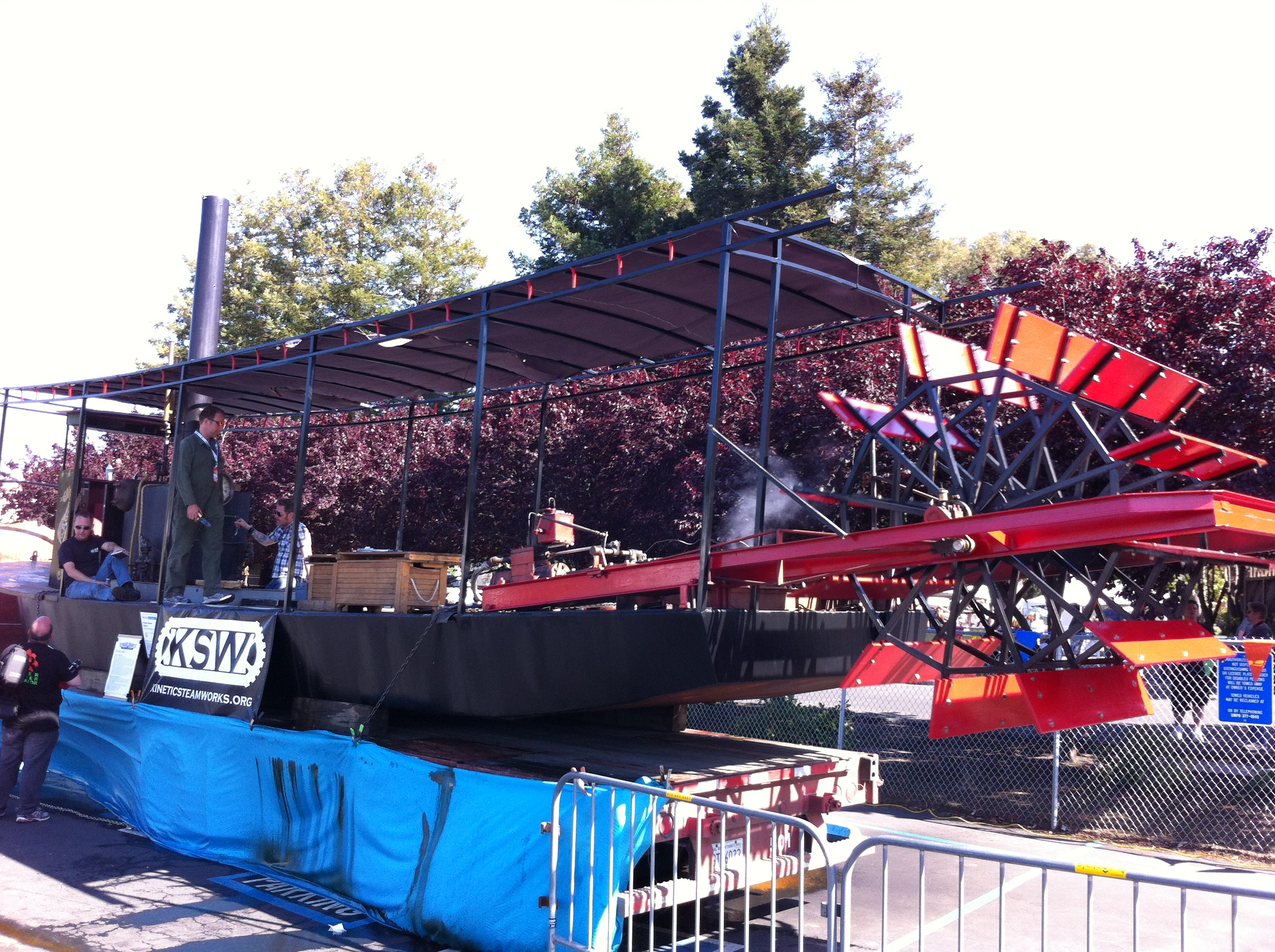 All Aboard 40-foot Steamship at Maker Faire