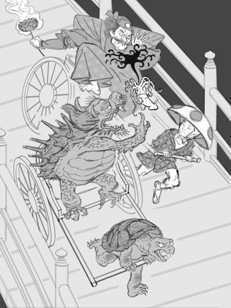 Nintendo Characters as Traditional Japanese Woodblock Prints