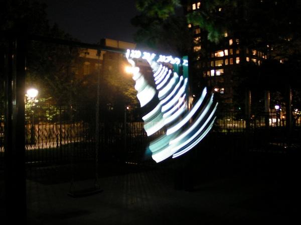 Lighting LEDs Using Swingset Power
