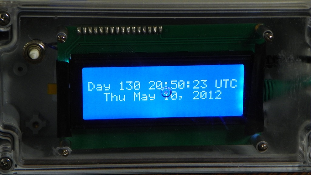 LCD Clock Syncs via Network