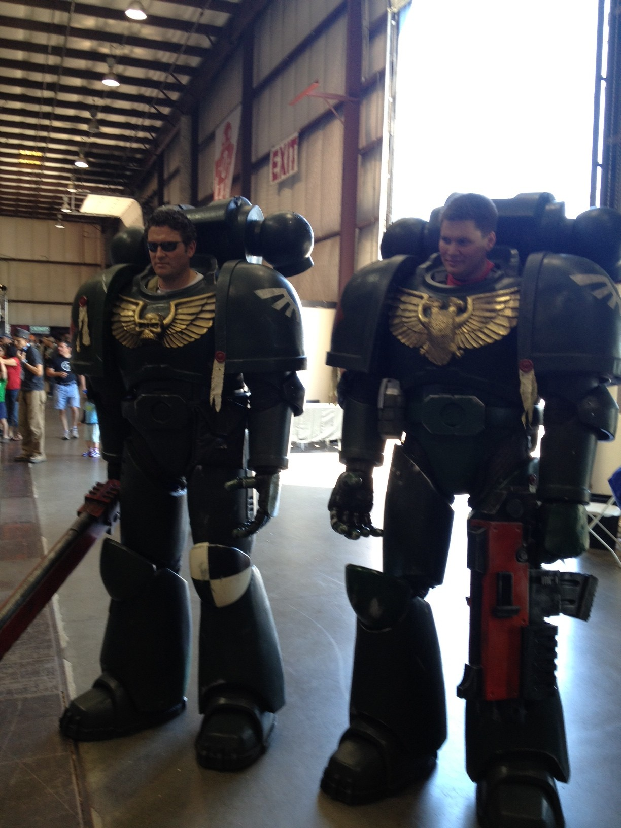 Space Marines Tower Over Maker Faire