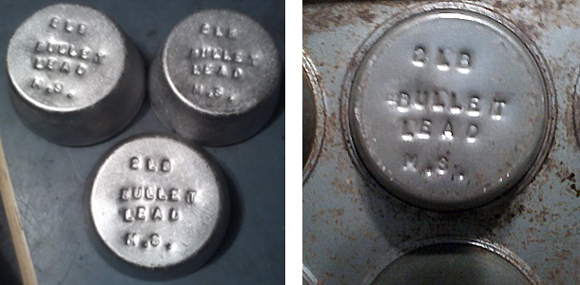 Stamped Muffin Pans Cast Handy Marked Ingots
