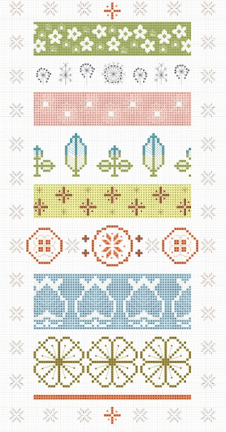 Vintage Pyrex Pattern Cross-Stitch Chart