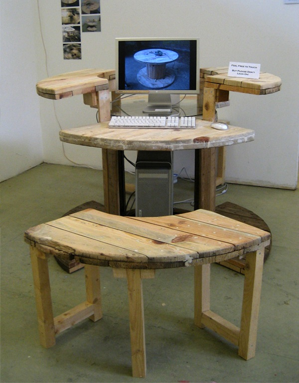 Computer Desk from Cable Reel  Make