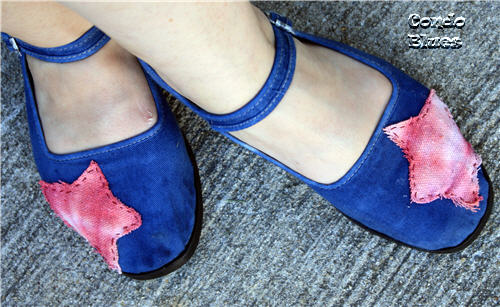 How-To: Tie Dye Drop Cloth Shoes