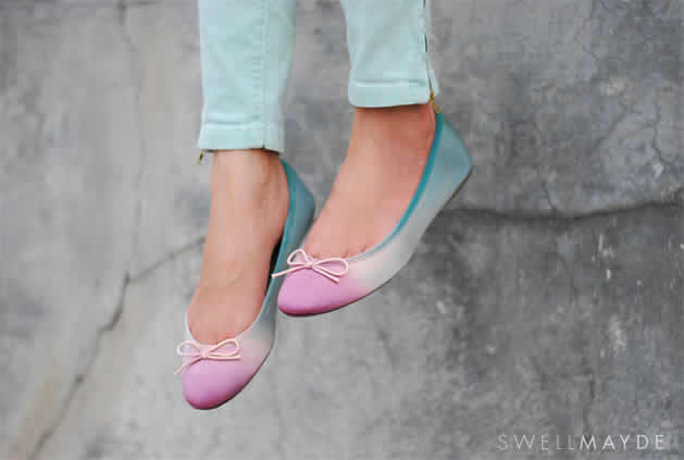 How-To: Dip Dye Ombre Flats
