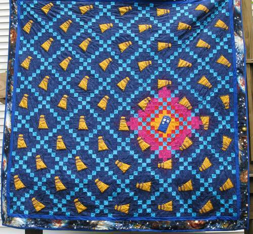 Doctor Who Dalek And TARDIS Quilt