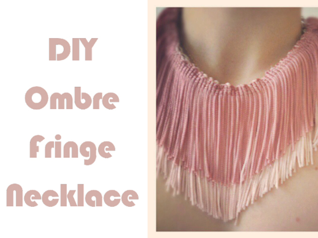 How-To: Ombre Fringe Necklace