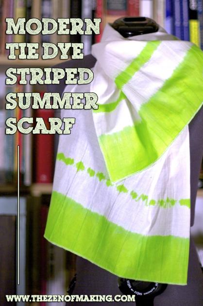 Tie Dye Summer Scarf