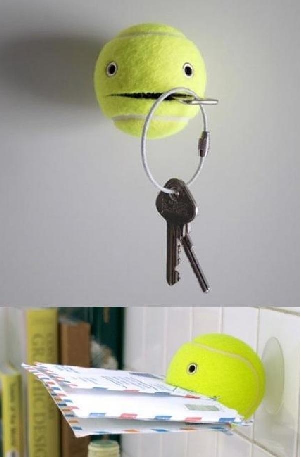 Tennis Ball Helper Hangs onto Your Things